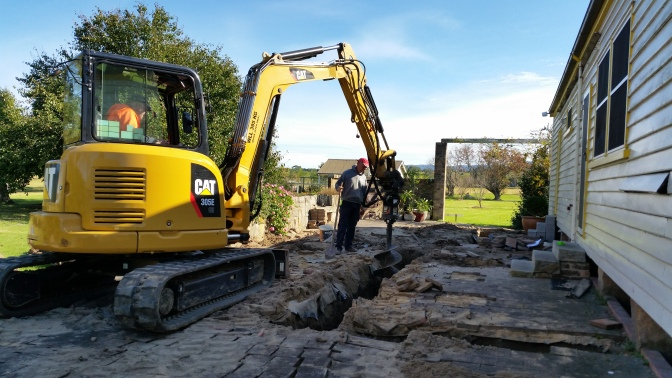 Digging the footings